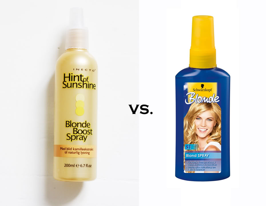 blond hårfarve spray