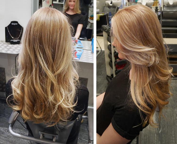 ombre hair frisør