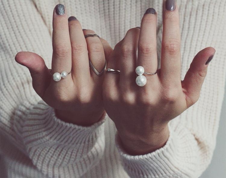 diy pearl ring
