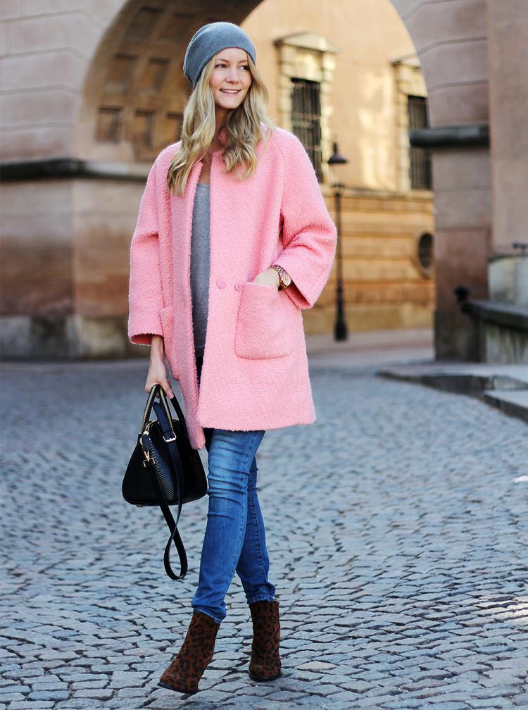 ganni pink frakke