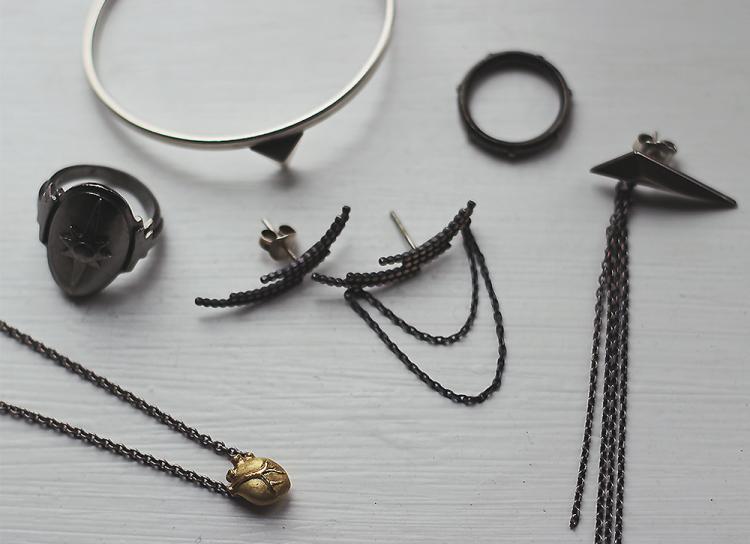 bjørg smykker oxiderede smykker sølv guld jane kønig maria black