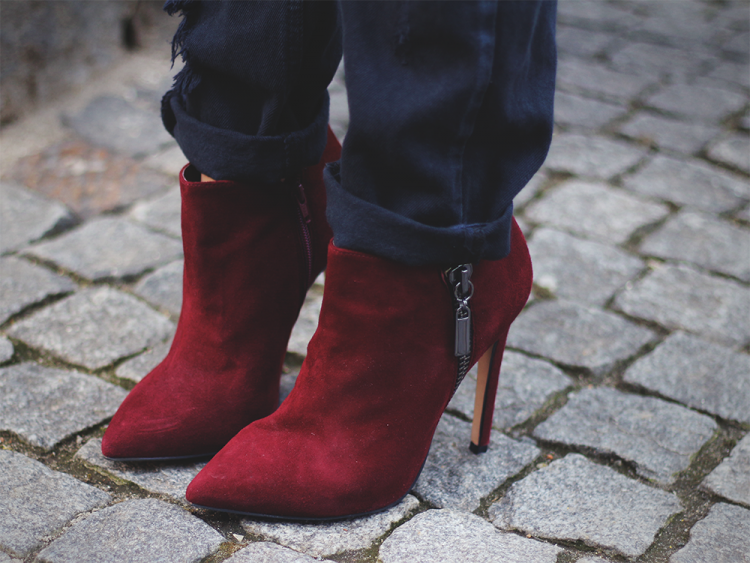 carvela kurt geiger red boot ankle boots ankelstøvler støvler modeblog fashion blog blog outfit