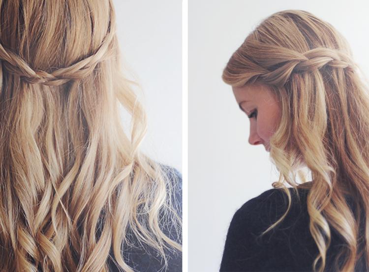 fletninger waterfall braid fletning frisure hår opsætning
