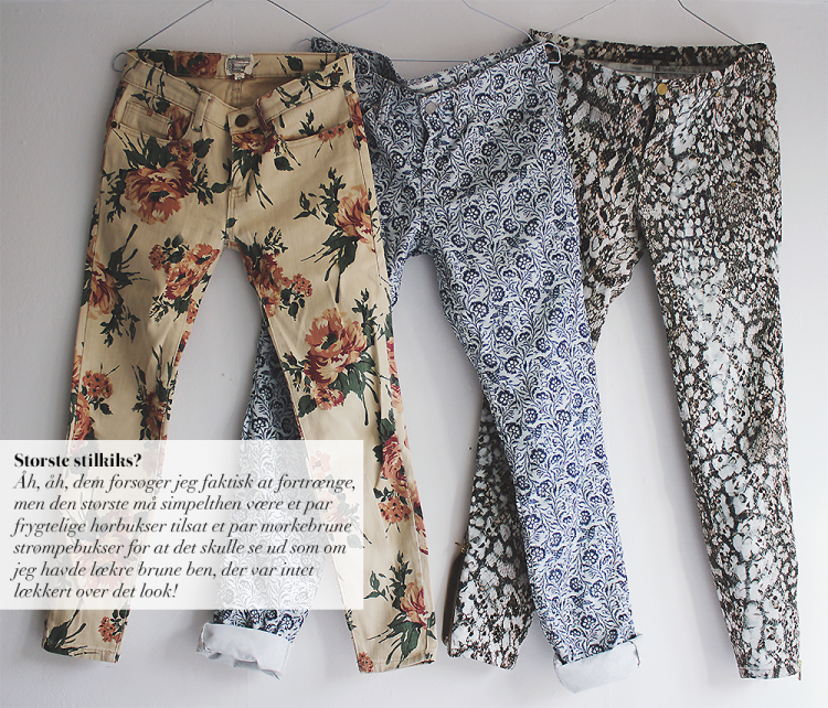 floral jeans bukser isabel marant current elliott H&M copy