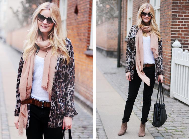 leo jakke leopard frakke heartmade zara asos scarf witchery fashion modeblog blogger fashionblog danmarksstørstemodeblog google streetstyle style styling designer