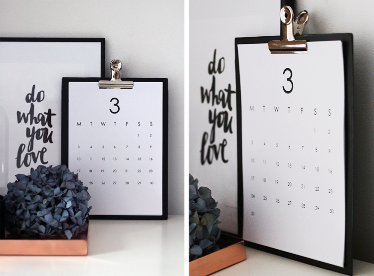 printable calendar kalender gratis free interior interiør home decor inspiration