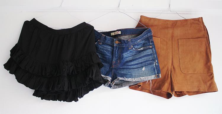 shorts denim shorts cowboyshorts H&M spring 2014 culottes skorts suede shorts