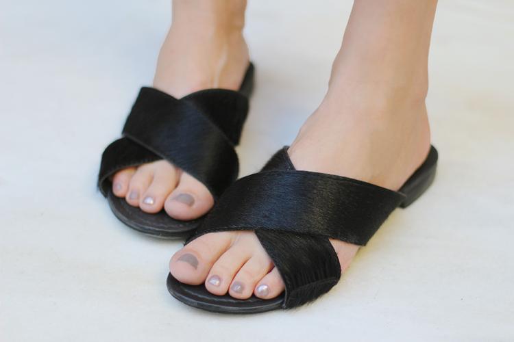 calf hair sandals