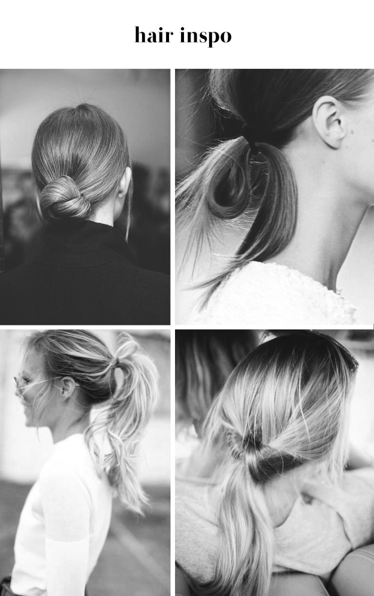 hair inspiration updo ponytail hår frisure