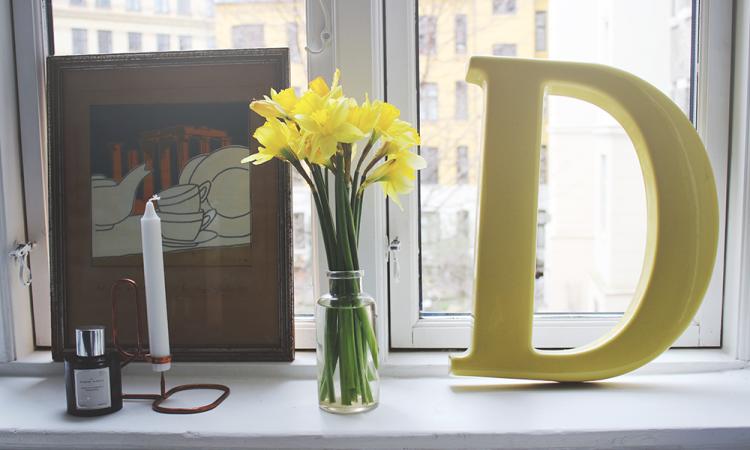interiør interior design, fashion, modeblog, blogger, danmark, bogstav, påskeliljer, indretning