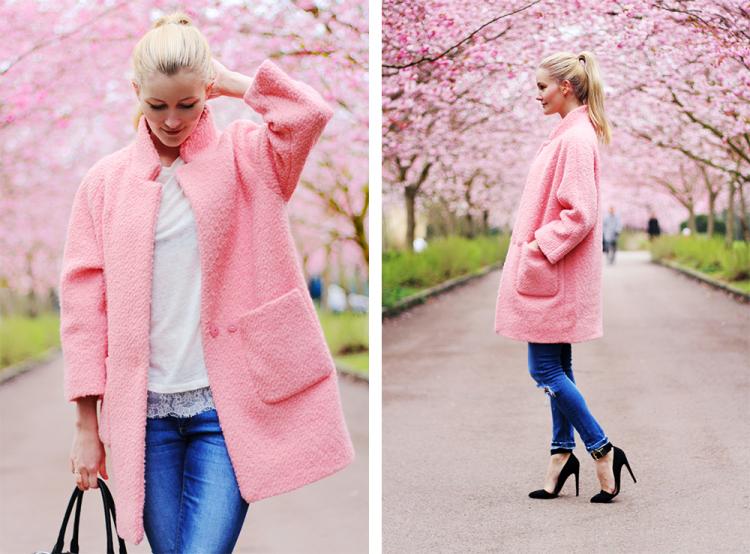 lyserød frakke modeblog fashion blog