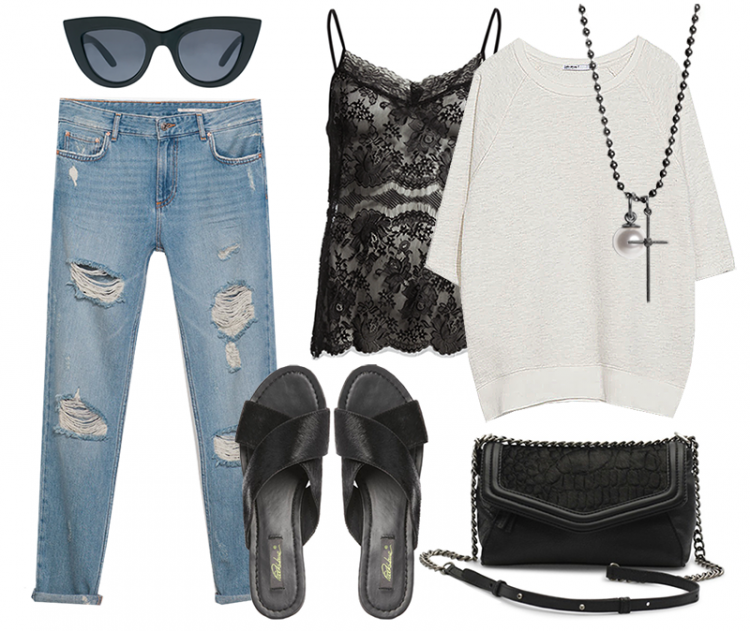 modeblog outfit fashion blog asos slippers pony hair calf hair sandals cateye sunglasses, markberg passionsforfashion ootd styling instagram christina dueholm look