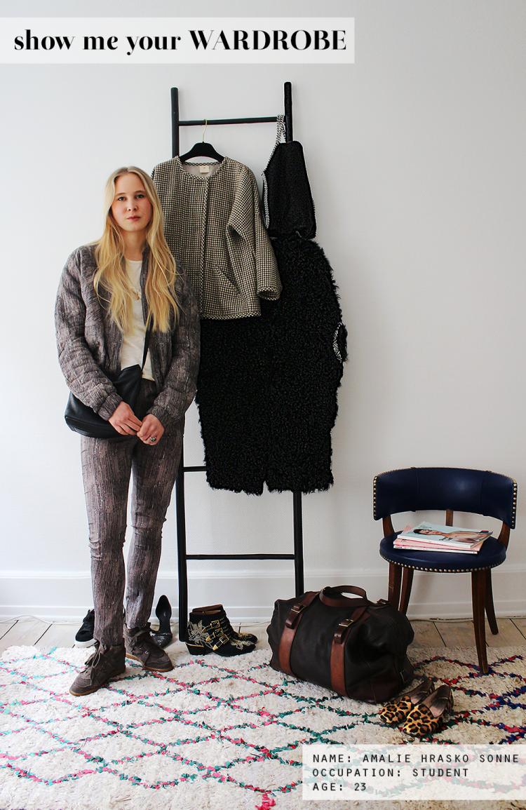 show me your wardrobe modeblog fashion blog blogger garderobetjek closet garderobe tøjstativ stige heartmade chloé susannah, leopard loafers, isabel marant