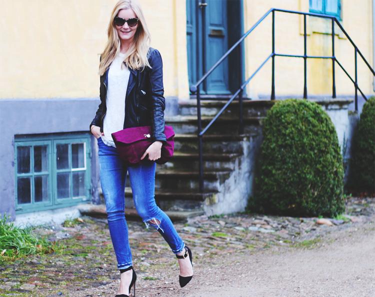 skinny jeans asos modeblog fashion blog blogger læderjakke styling