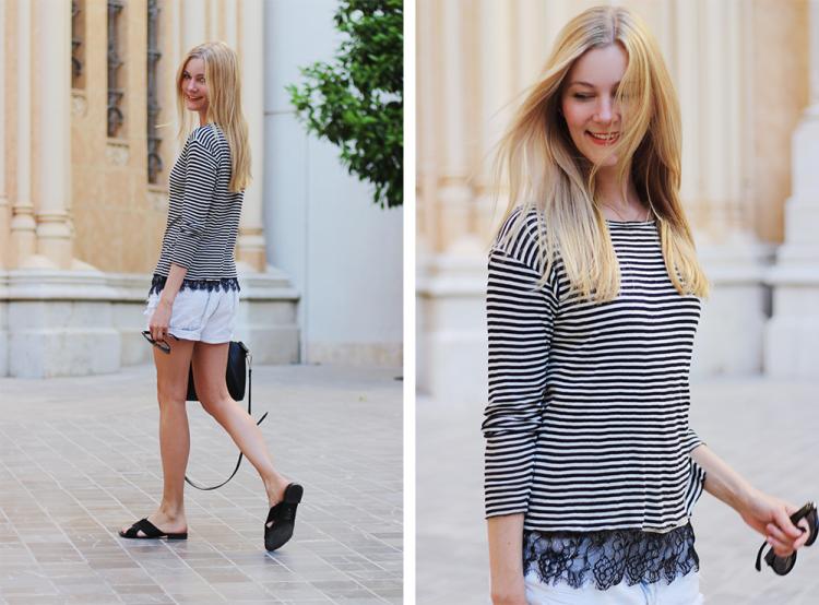 stribet bluse modeblog H&M