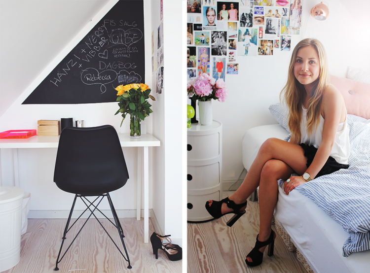 billedvæg collage moodboard homeoffice mode fashion styling ootd stribet sengetøj