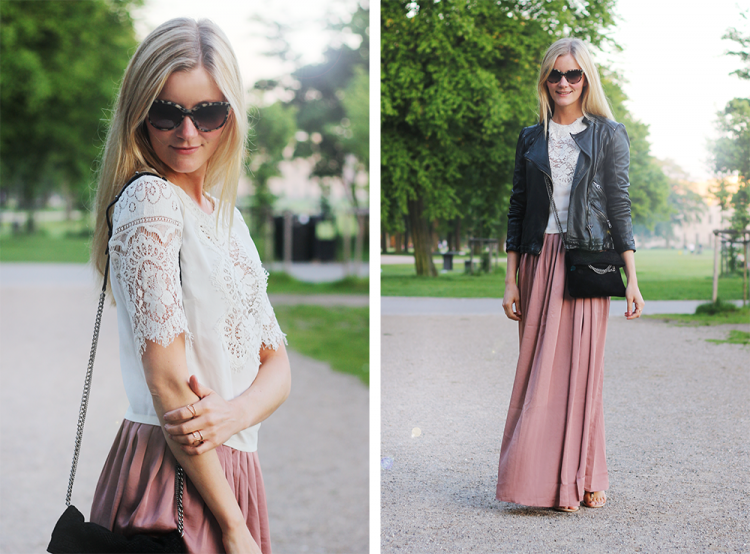 lace top modeblog fashion blog maxiskirt