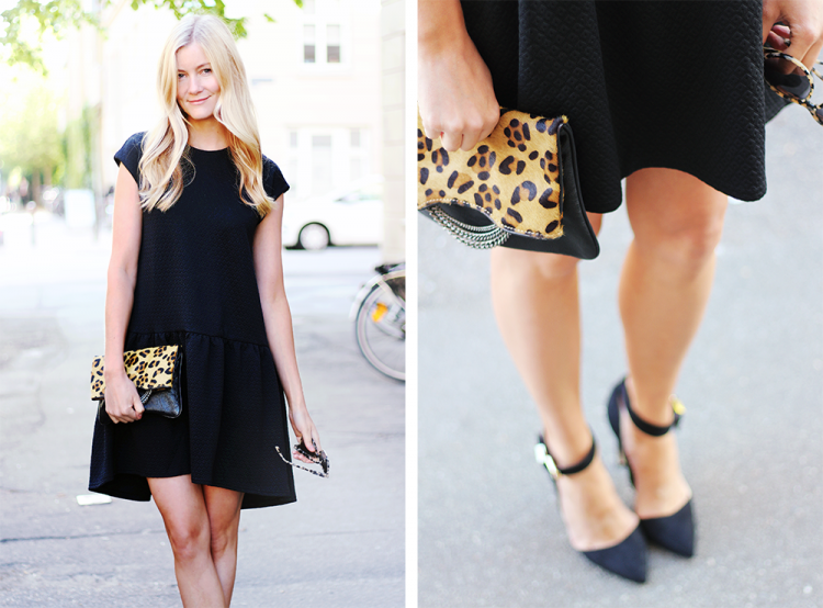 leopardclutch modeblog blogger danmarksstørstemodeblog fashion fashionblogger kjole sortkjole cocktailkjole lbd styling outfit
