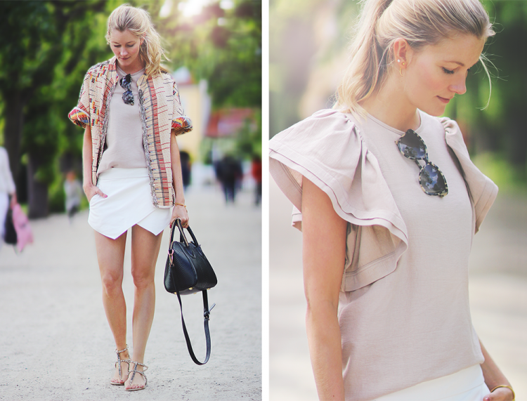 nude top asos mode fashion styling heartmade skorts kongenshave sommer