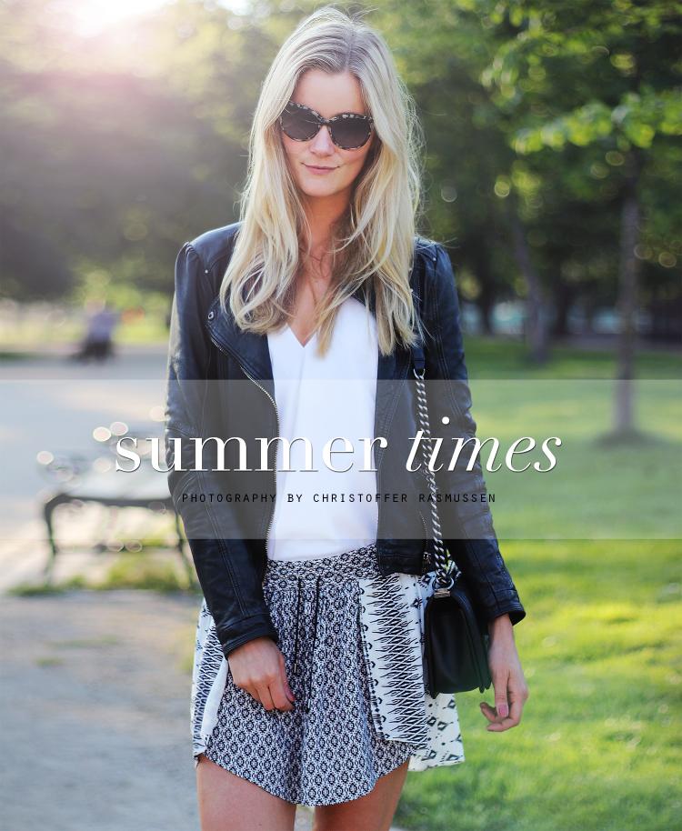 skirt modeblog fashionblog stellamccartney læderjakke skindjakke bikerjakke sommer københavn
