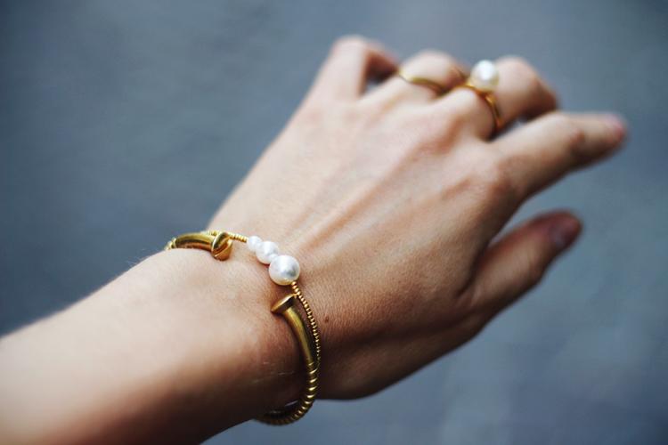 anilu annilu pearl bracelet perlearmbånd