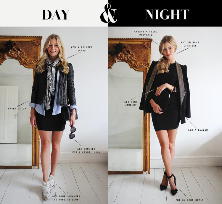 dayandnight daytonight goingout everydayoutfit modeblog fashionblog sneakers lbd