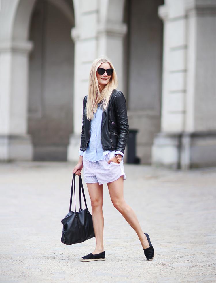 pyjamas pj shorts skjorte modeblog fashionblog ootd