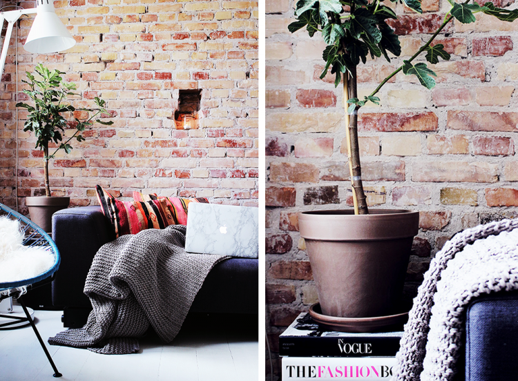 lejlighed københavn, apartment, modeblog, indretning, interiordesign, rå murstensvæg