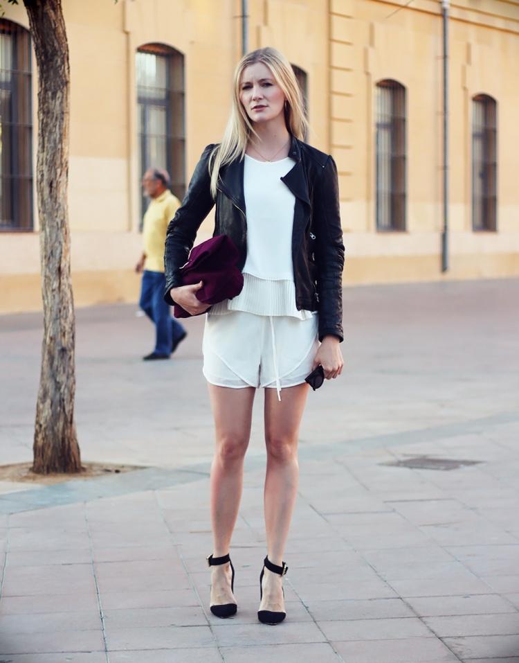 hvide shorts