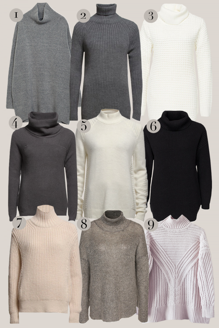 rullekrave, turtle nec, højhalset, sweater
