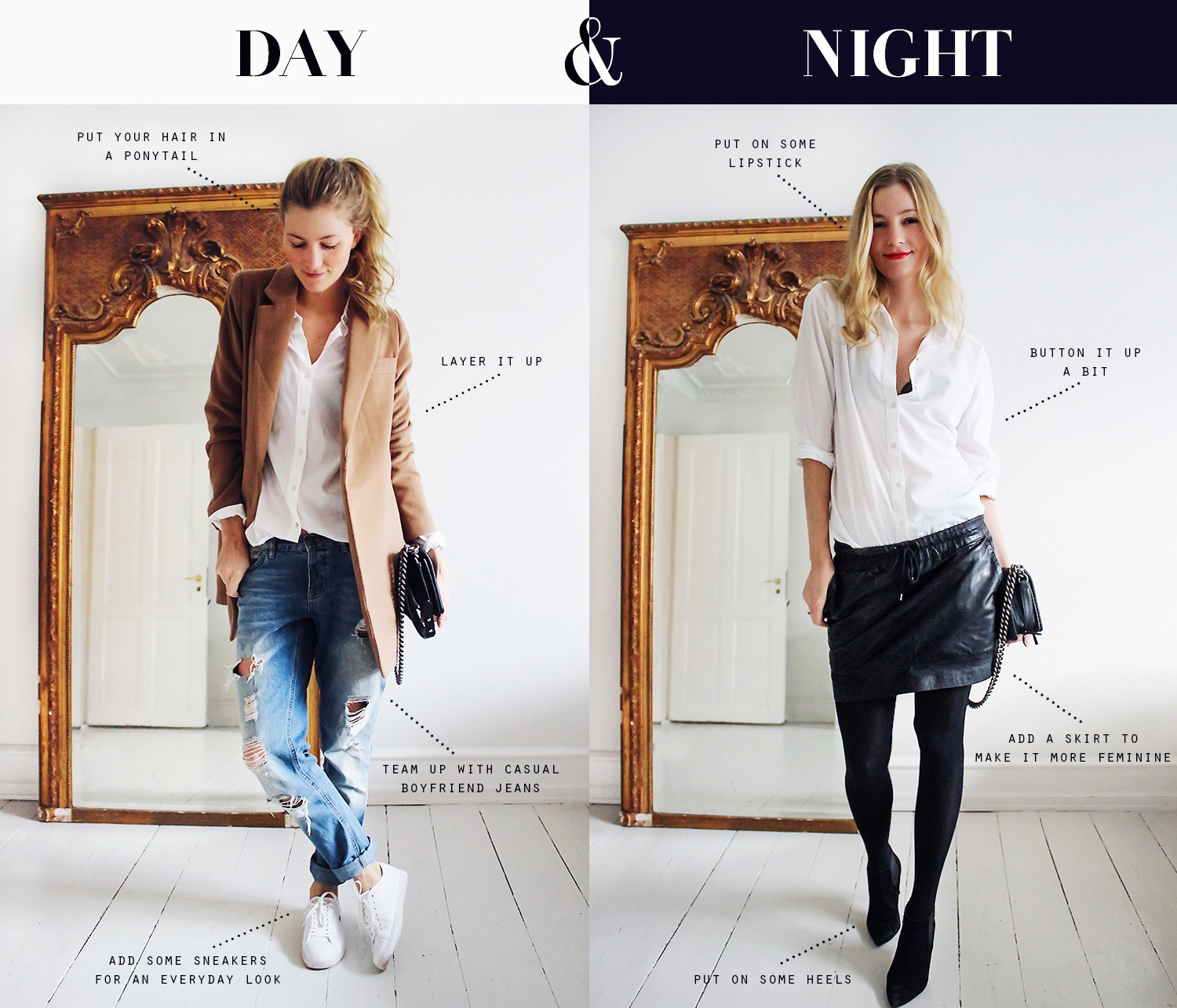 stylist, day-to-night-outfit,-modeblog,-hvid-skjorte,-styling@2x