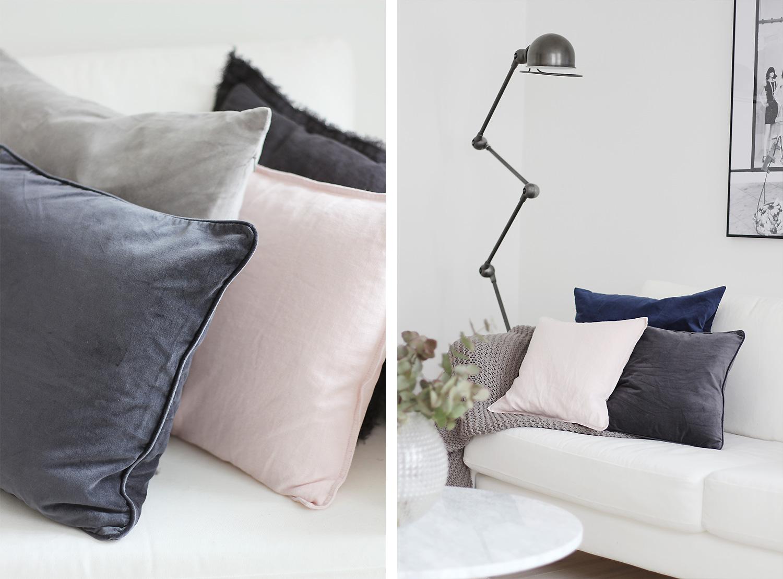 velour puder Velour & linen cushions   Christina Dueholm velour puder