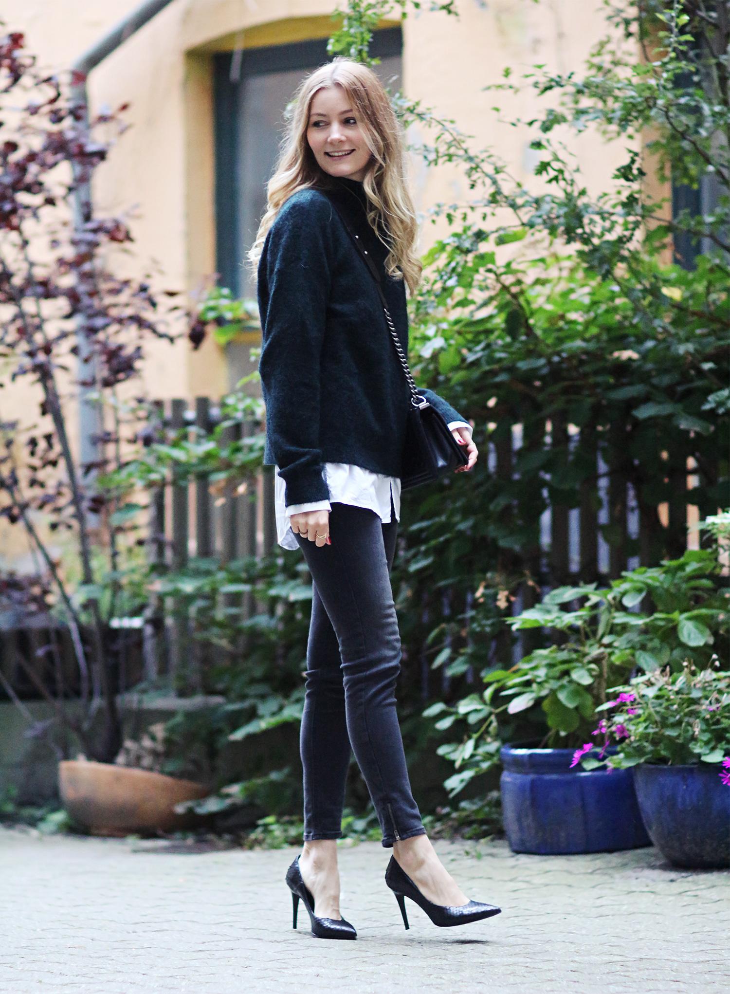 grå-jeans