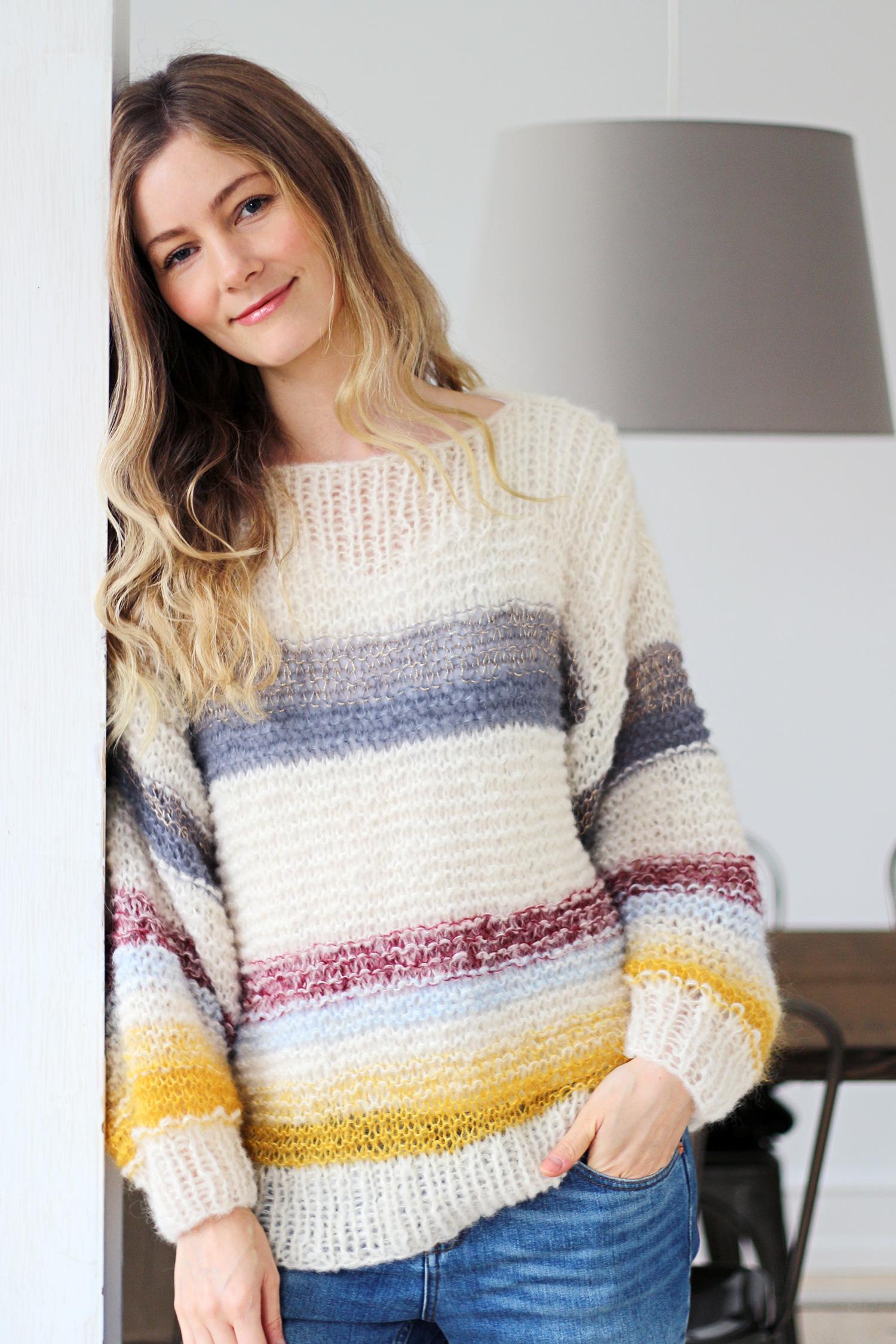 sweater-strikkeopskrift