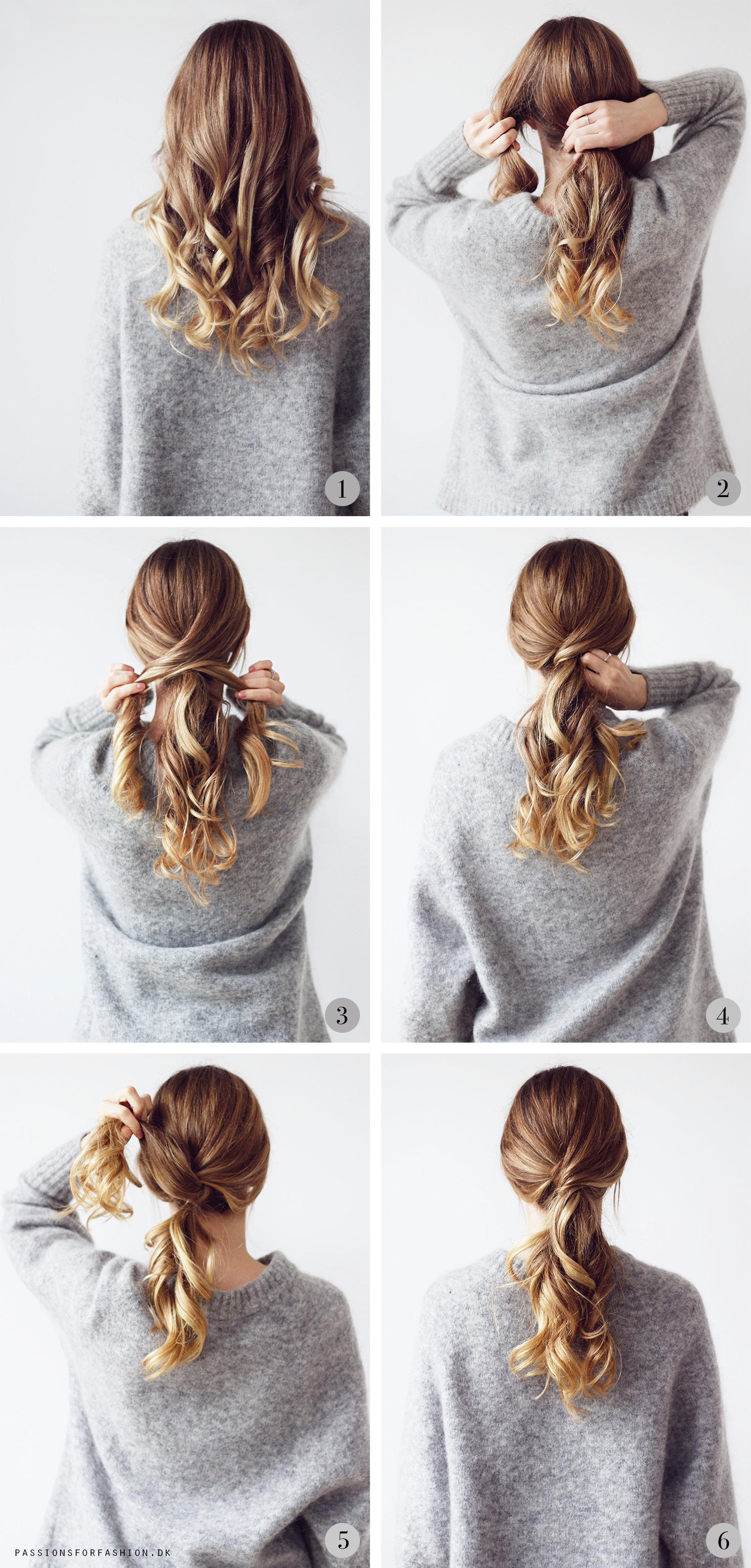 Fest frisure langt hår