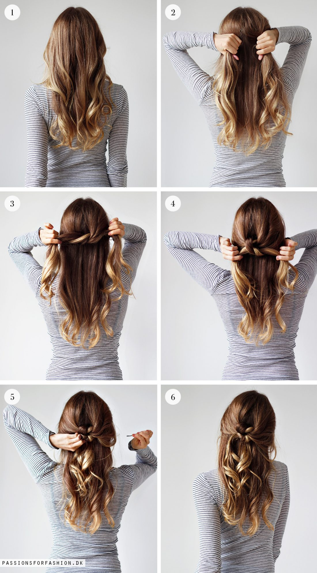 opsætning af halvlangt hår