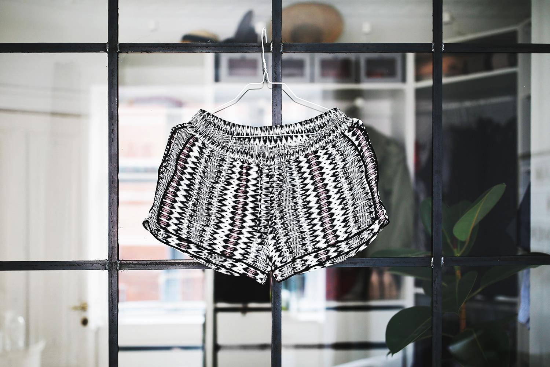 mønstrede-shorts