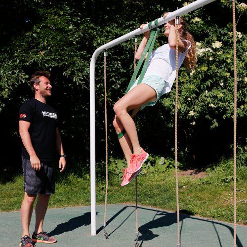 træning med elastik
