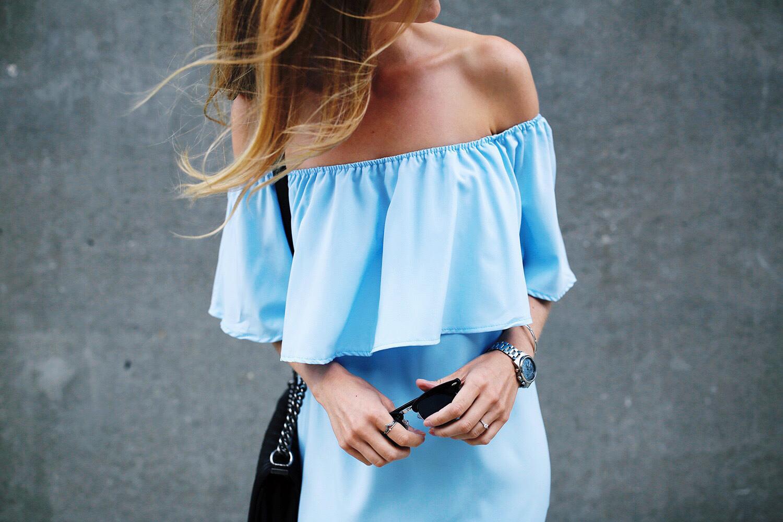 blå-kjole