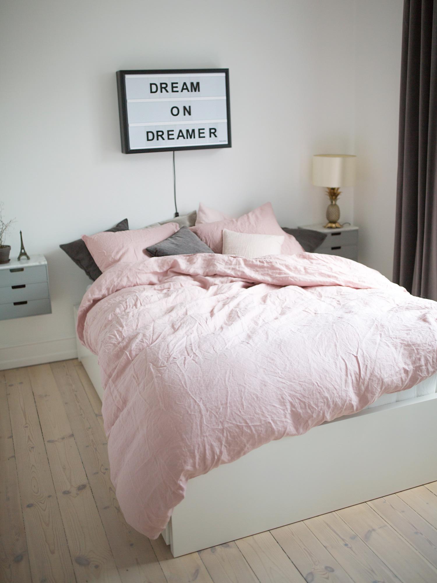 sengetøj hør Pink bed linen   Christina Dueholm sengetøj hør