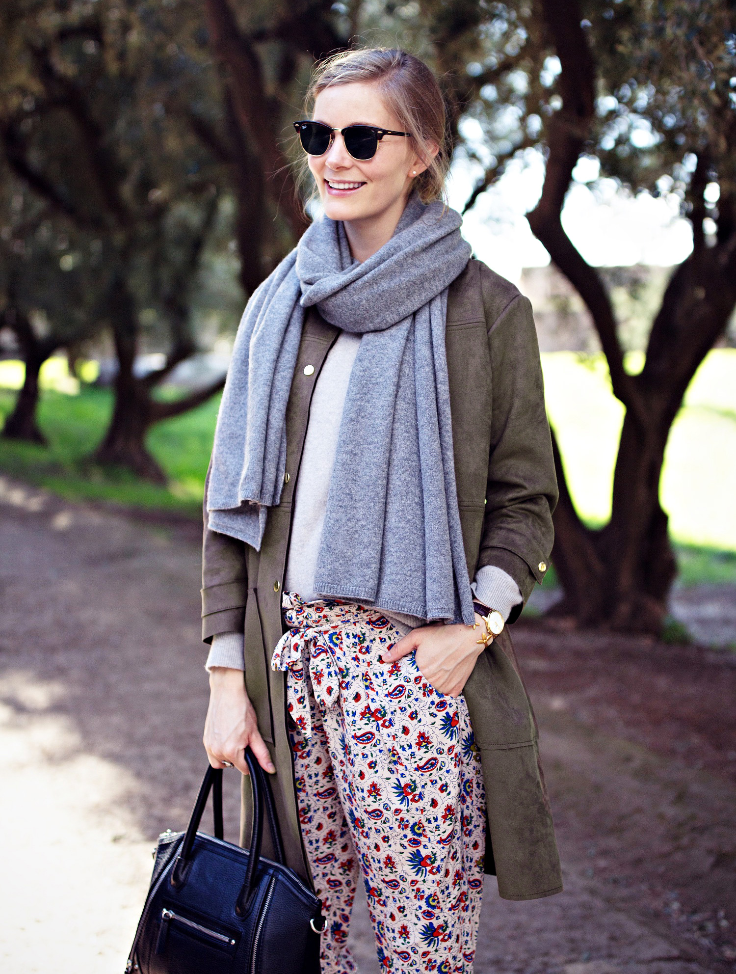 rayban, rayban clubmaster, heartmade, cashmere scarf, cashmere sweater, markberg, leather bag