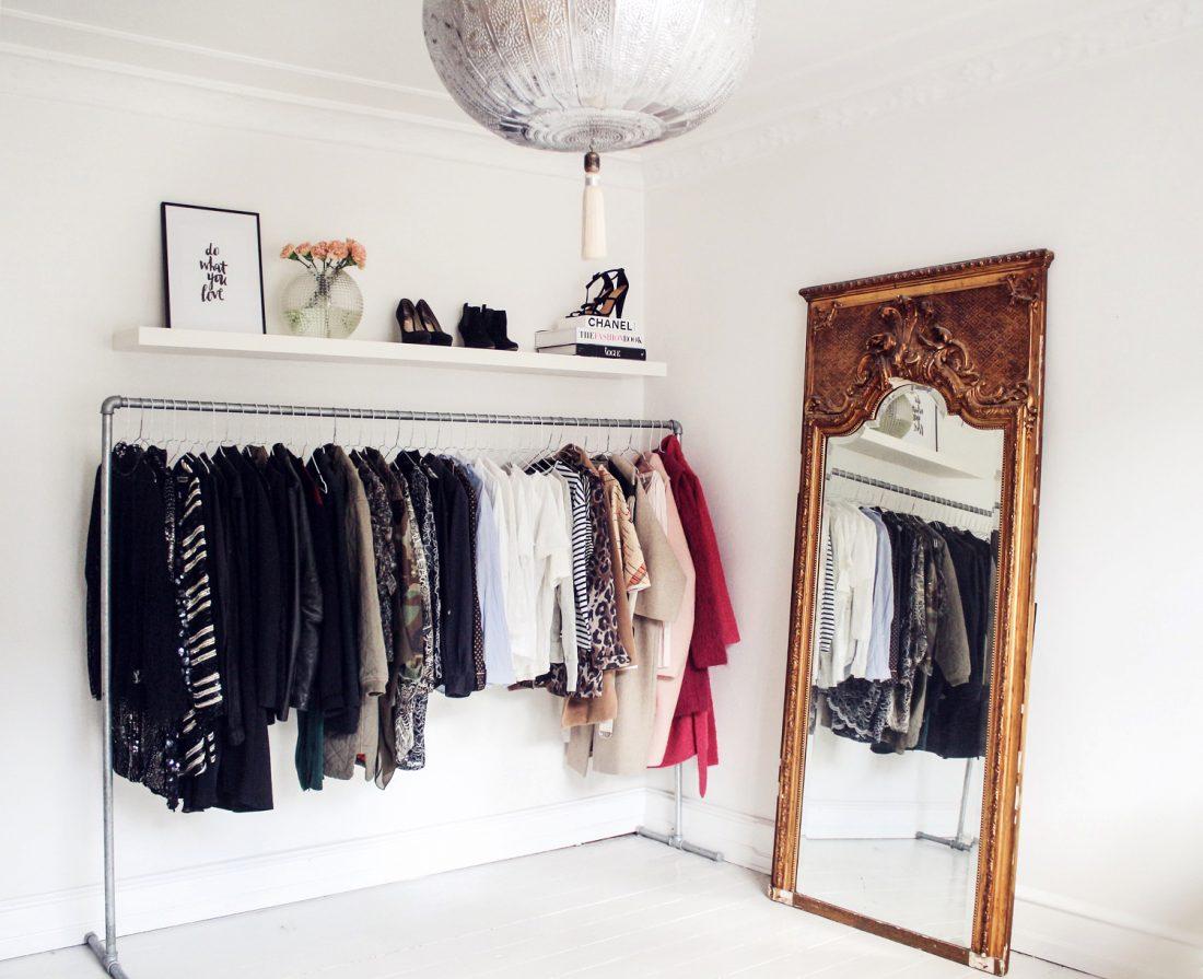 garderobe, walk-in-closet, tøjstativ