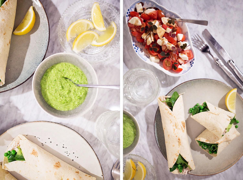 tortillawraps, mexicanske pandekager, nem hverdagsmad, opskrift