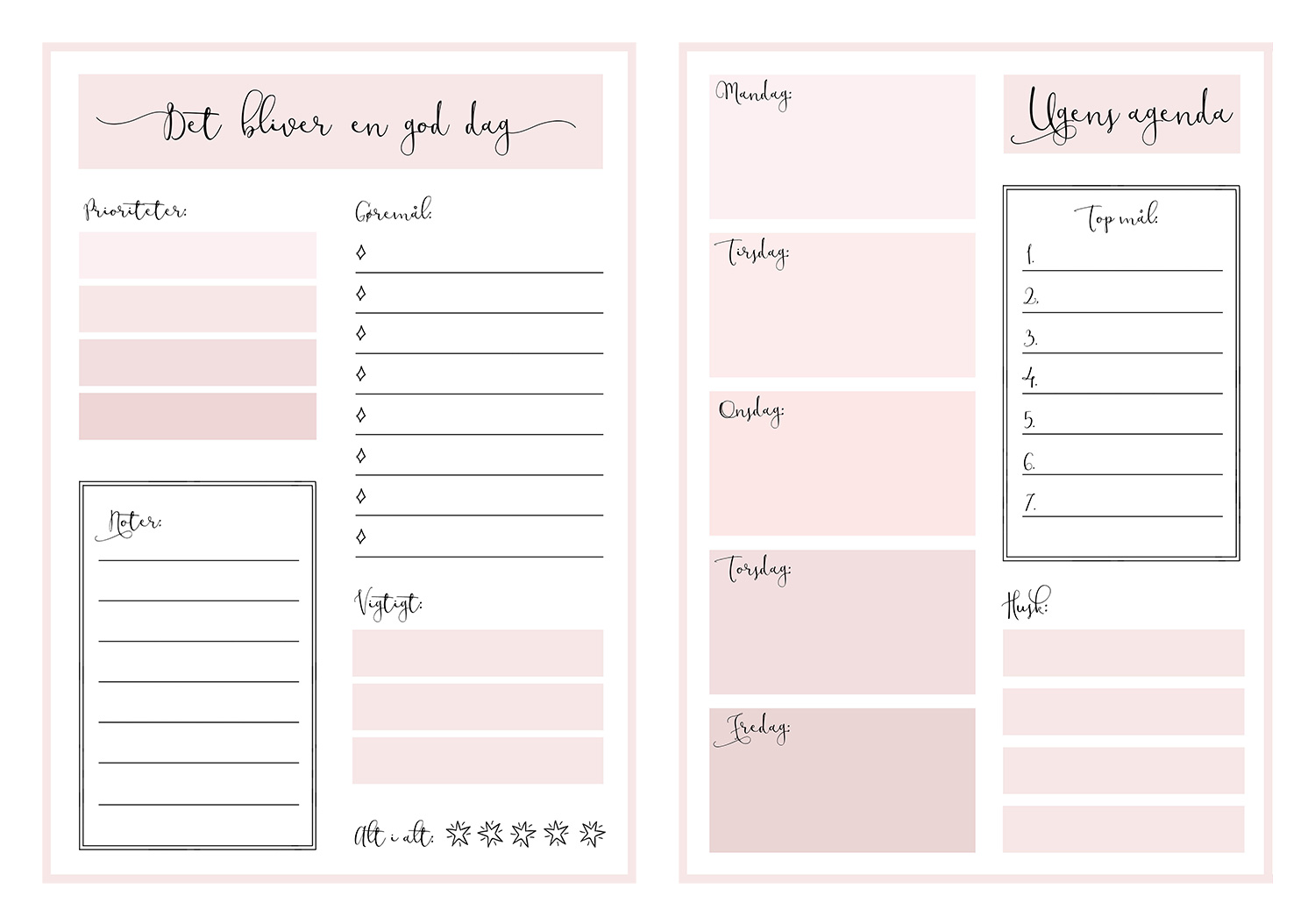 planners, kalender, gratis, download