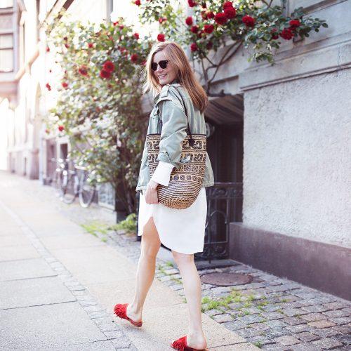 hvid kjole, outfit, røde sandaler, other stories