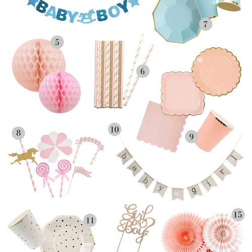 baby shower, pynt, festpynt